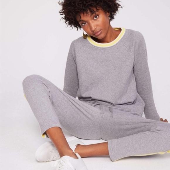 Lou & Grey Highlighter Gray Terry Sweat Suit sz S